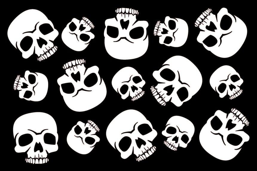 12x18 Half Skull
