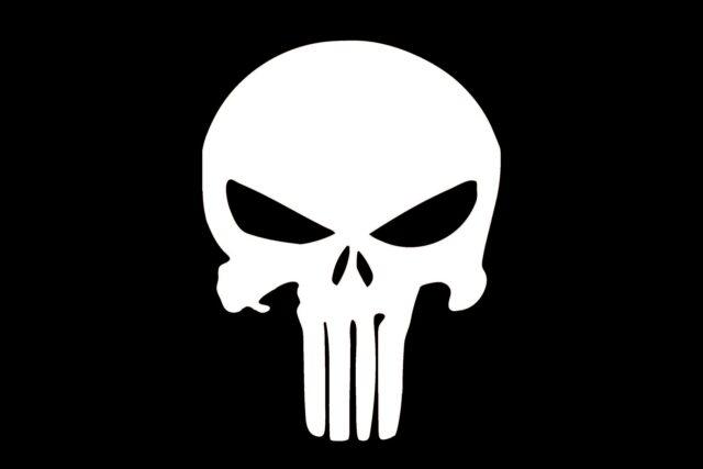 Punisher Skull 12x18
